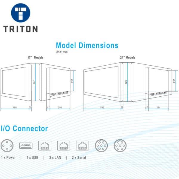 TSi17 Industrial Touchscreen PC - TSI19PCT17SS